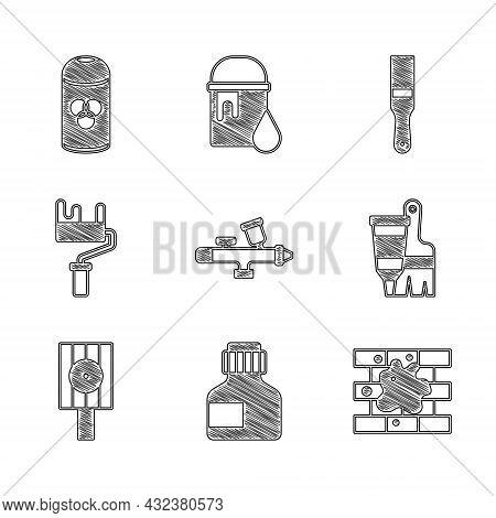 Set Paint Spray Gun, Paint, Gouache, Jar, Dye, Painting The House, Tube With Paint And Brush, Spray