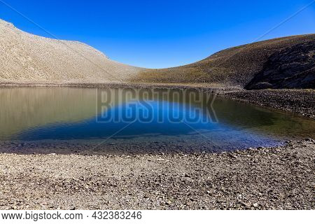 Image Of Lac Des Garrets (2621 M) Located In The Southern French Alps In Mercantour National Park.