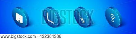 Set Isometric Depth Measurement, Laser Distance Measurer, Hand Scale Spring Mechanical And Corner Ru