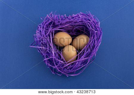 Heart Shaped Easter Nest