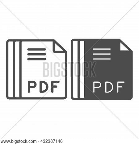 Paper Sheets, Pdf File Line And Solid Icon, Documents Concept, Portable Document Format Vector Sign