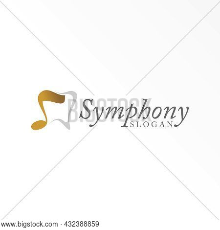 Dental Free Logo Vector Stock. Note Song Abstract Design Concept. Can Be Used As A Symbol Related To