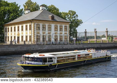 St. Petersburg, Russia - July 09, 2021: The Summer Palace Of Emperor Peter I In The Summer Garden In