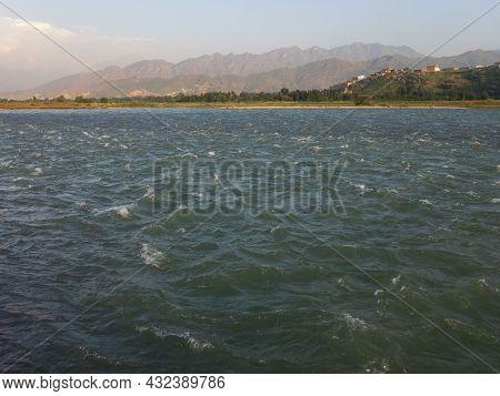 River Swat Water In Summer Beautiful View