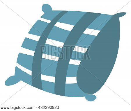 Soft Airy Pillow, Cushion For Bed Or Sofa Vector