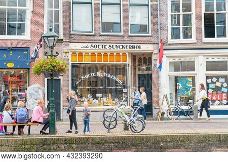 Alkmaar Netherlands - August 18 2012; Picturesque Town Of Historic Monuments And Points Of Interest