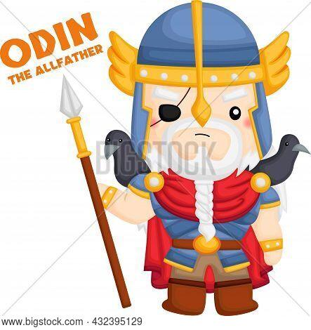 A Vector Of Odin From Norse Mythology