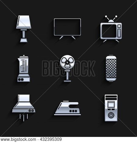 Set Electric Fan, Iron, Remote Control, Stereo Speaker, Kitchen Extractor, Blender, Television And T