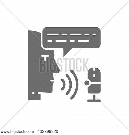 Radio Host, Sound Record, Broadcast, Dj Grey Icon.