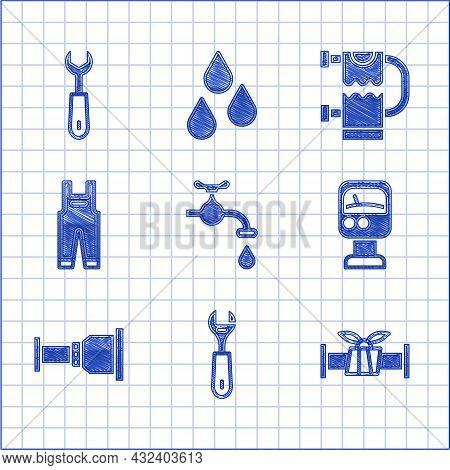 Set Water Tap, Wrench Spanner, Industry Metallic Pipe, Pressure Water Meter, Pipe Adapter, Work Over