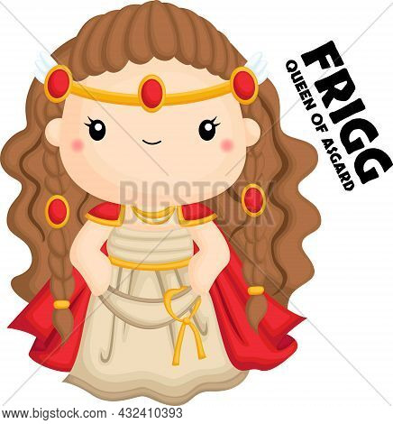 A Vector Of Frigg From Norse Mythology