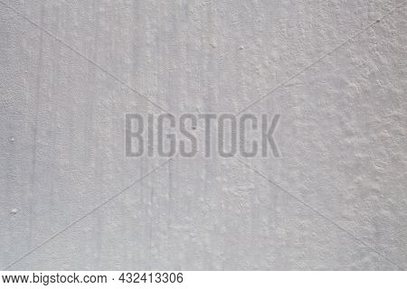 Flat Shabby Matte White Paint With Cracks - Close-up Full Frame Background And Texture