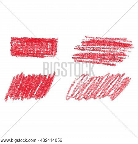 Red Marker Pen Highlighter Element. Vector Illustration