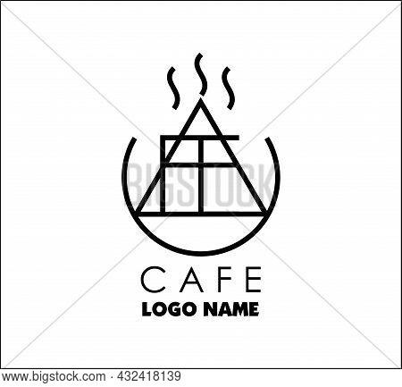 Cafe Name Logo Modern Illustration, Creative Name Logo Design