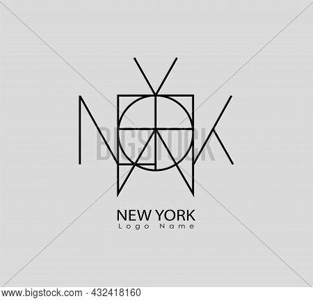 New York Name Logo Modern Illustration Creative Name Logo Design