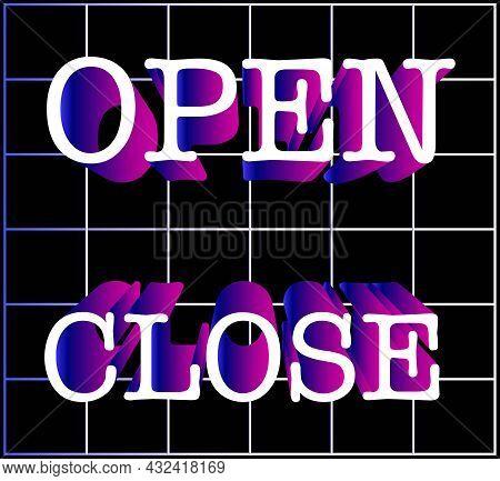 Open And Close Writing Background Design. Illustration Vevtor