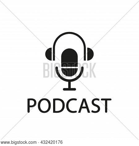 Podcast Vector Logo Design. Radio, Audio And Show Podcast Concept. Vector Illustrations.