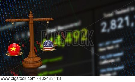 The China And America Bomb On Libra For Business Concept 3d Rendering