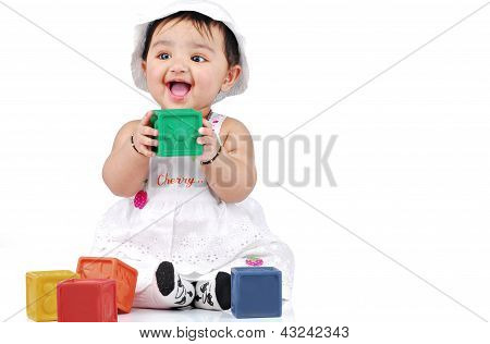 Indian infant in indoors