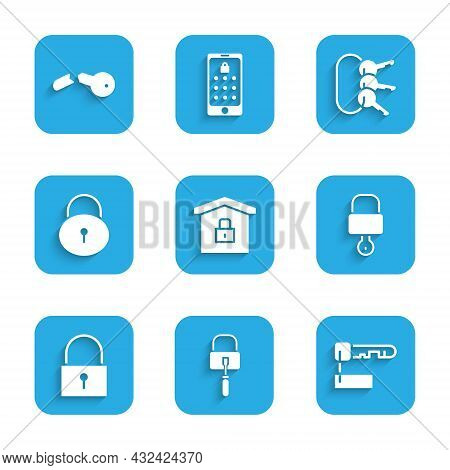 Set House Under Protection, Lock Picks For Lock Picking, Marked Key, And, Bunch Of Keys And Broken I