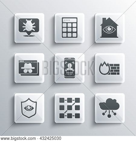 Set Graphic Password Protection, Internet Of Things, Firewall, Security Wall, Mobile And Face Recogn