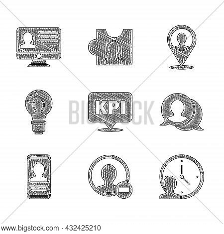 Set Key Performance Indicator, Create Account Screen, Time Management, Speech Bubble Chat, Mobile Wi
