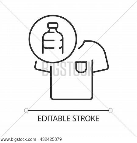 Clothes Made From Plastic Bottles Linear Icon. Sustainable Clothing Item. Sustainable T Shirt. Thin