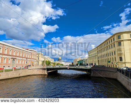 Bridges Of St. Petersburg. Rivers In St. Petersburg.
