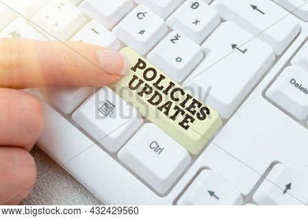 Conceptual Caption Policies Update. Business Overview Act Of Adding New Information Or Guidelines Fo