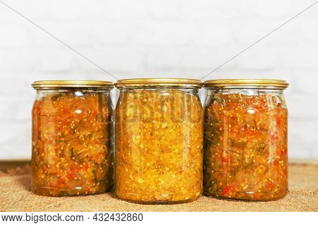 Vegetable Cucumber Relish. Bostongurka Swedish Boston Cucumber Is A Of Relish With Pickled Gherkins,