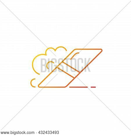 Eraser Gradient Linear Vector Icon. Item For Rubbing Away Pencil Marks From Paper. Scraping Off Ink.