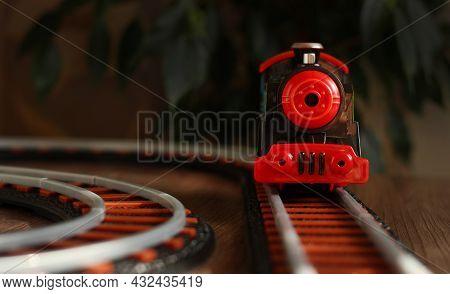 Childrens Railway With Black Train, Childrens Toy