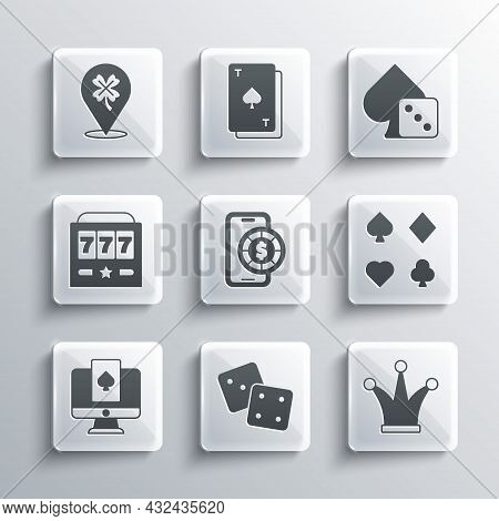 Set Game Dice, Joker Playing Card, Deck Of Cards, Online Poker Table Game, Slot Machine With Jackpot