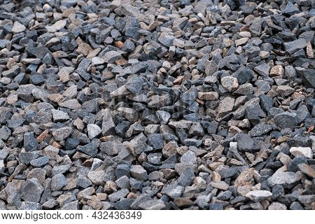 Small Stones. Crushed Stone. Stones Texture And Background. Rock Texture.