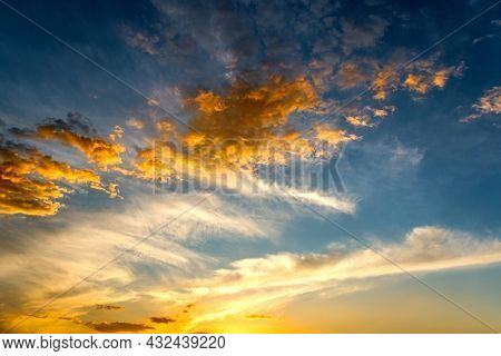Background Clouds Of Dawn Or Sunset, Heaven Religion