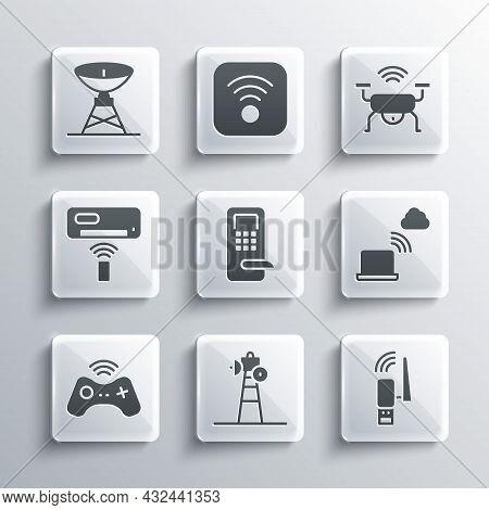 Set Satellite Dish, Usb Wireless Adapter, Network Cloud Connection, Digital Door Lock, Wireless Game