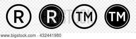 Set Of Registered Trademark Symbols In Black