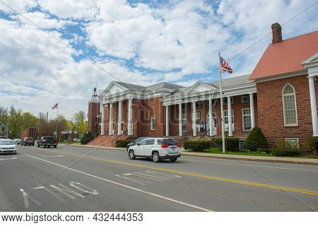 Potsdam, Ny, Usa - Apr. 28, 2017: Potsdam Town Public Library And Municipal Offices At 2 Park Street