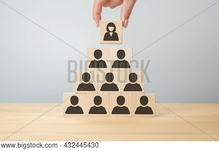 Appointment Of Woman To Senior Position. Choosing A Woman As A Company Manager. Female Business Mana