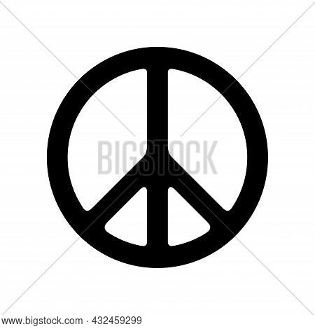 Peace Icon Isolated On White Background. Peace Icon Simple Sign. Peace Icon Flat Vector Design Illus