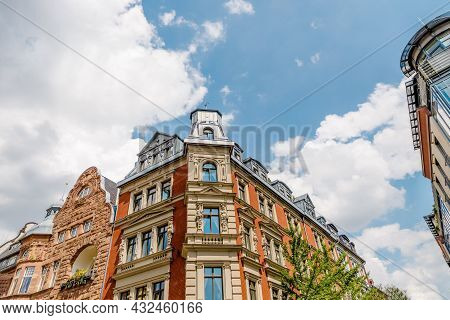 Beautiful Corner House In The Center Of Weimar, Thuringia, Germany