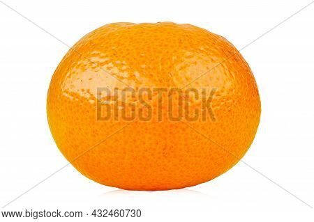 Mandarin, Tangerine Citrus Fruits Isolated On White Background. File Contains Clipping Path.