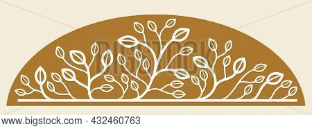 Beautiful Linear Floral Vector Design On Dark, Leaves And Branches Elegant Text Divider Border Eleme