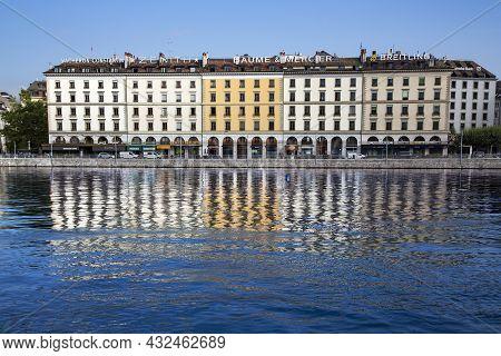 Switzerland, Geneva, August, 2021 - Geneva City Is The Second Most Populous City In Switzerland, Loc
