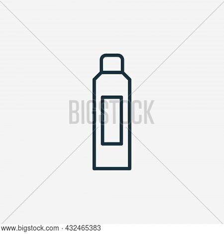 Spray Bottle For Body Care And Hygiene Line Icon. Deodorant, Antiperspirant Spray With Cap Linear Pi