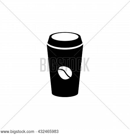 Coffee Cup Icon On White Background. Graphic Elements. Trendy Flat Isolated Symbol, Sign For: Illust