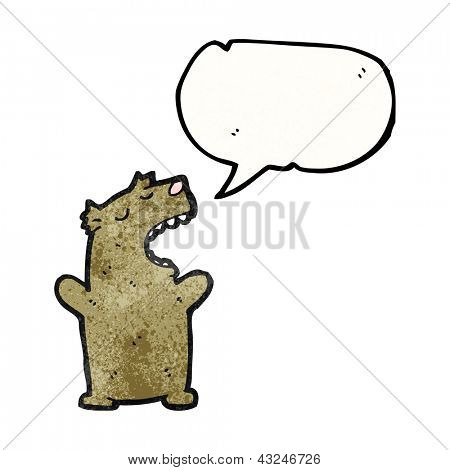 cartoon talking bear poster