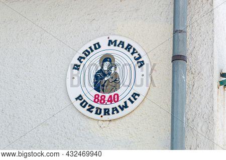 Szczyrk, Poland - June 6, 2021: Logo And Sign Of Radio Maryja.radio Maryja Is Religious And Politic