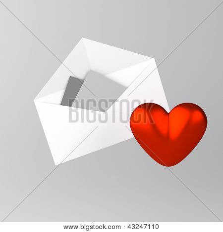 Envelope and heart icon