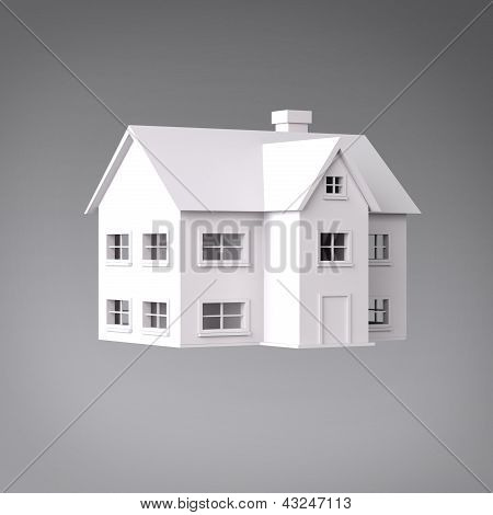 3D house three quarter view
